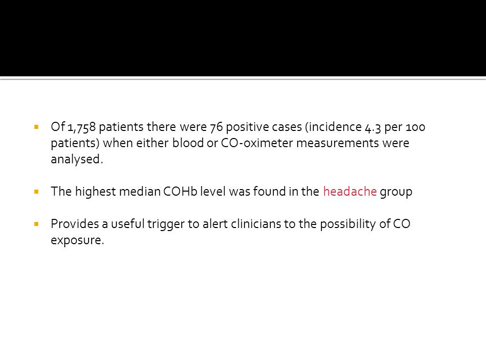 Of 1,758 patients there were 76 positive cases (incidence 4
