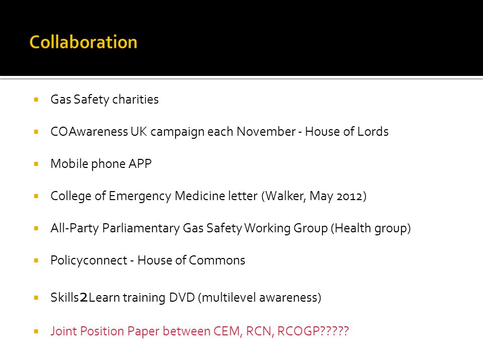 Collaboration Gas Safety charities
