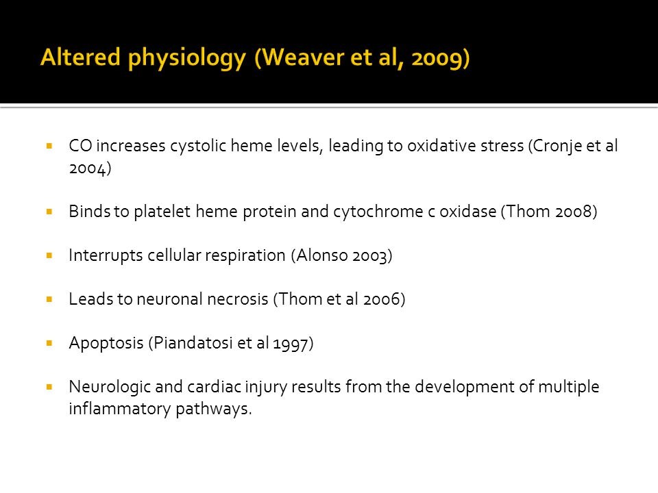 Altered physiology (Weaver et al, 2009)