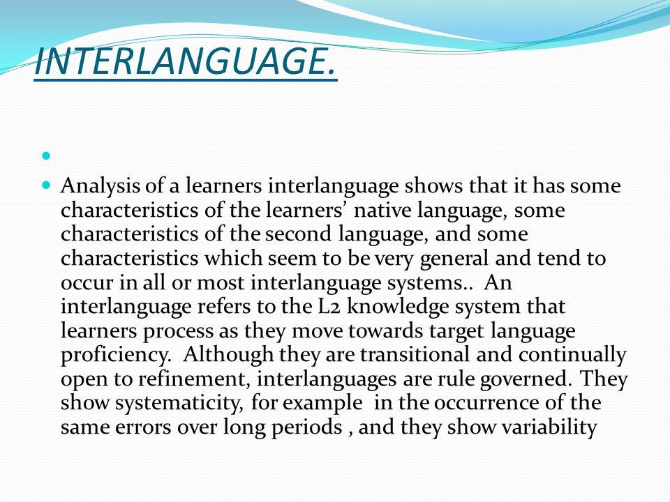 INTERLANGUAGE.