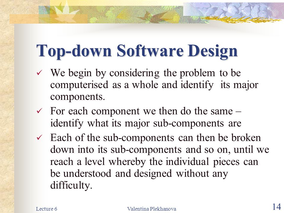 Top-down Software Design