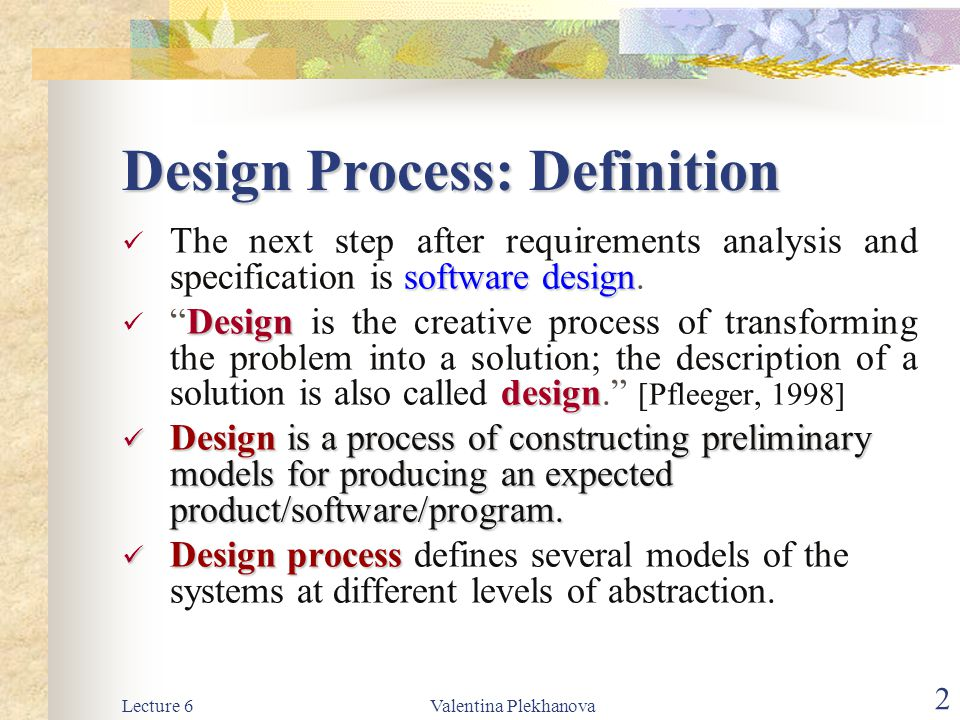 Design Process: Definition
