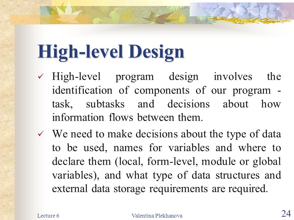 High-level Design