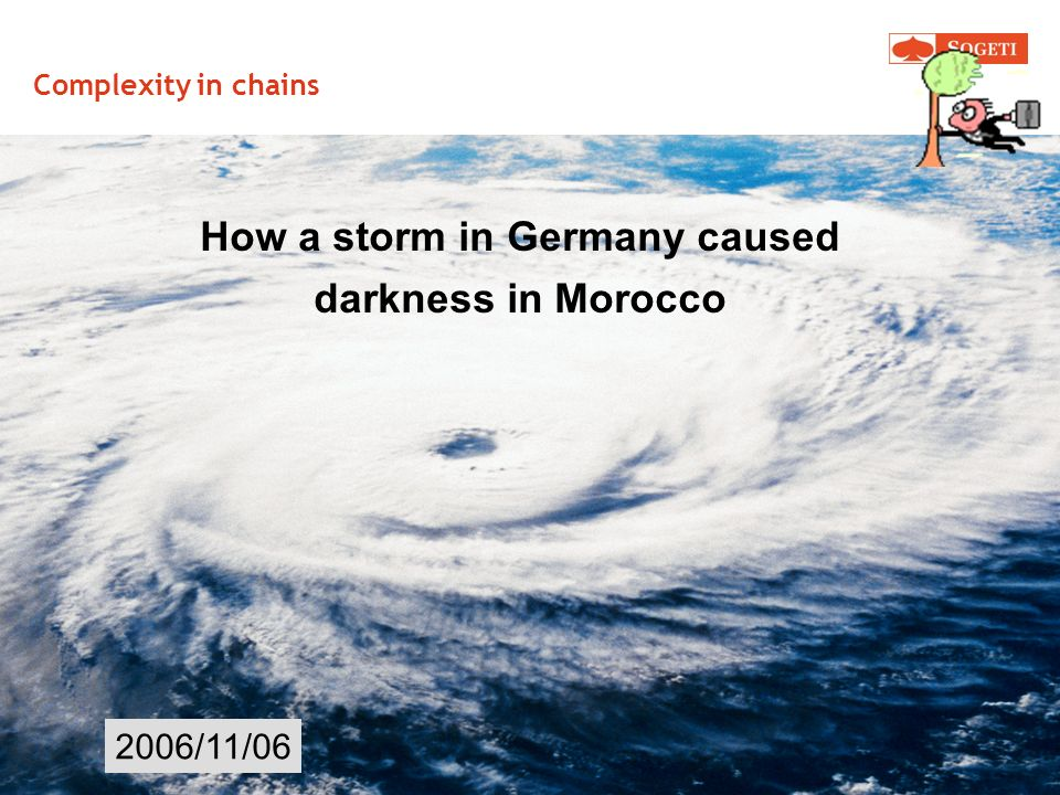 How a storm in Germany caused
