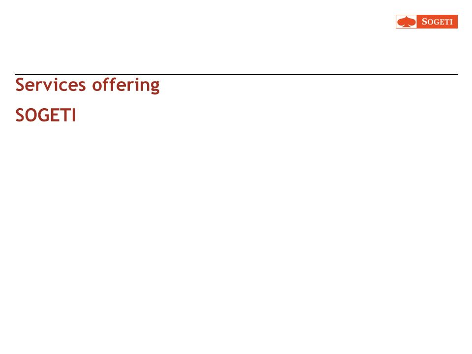 Services offering SOGETI