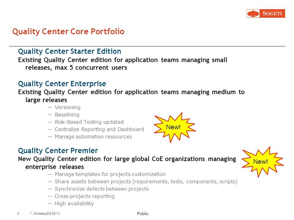 Quality Center Core Portfolio