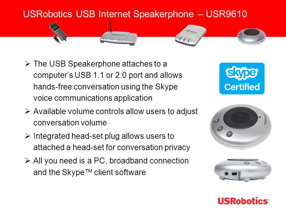USRobotics USB Internet Speakerphone – USR9610