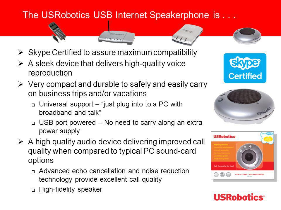 The USRobotics USB Internet Speakerphone is . . .