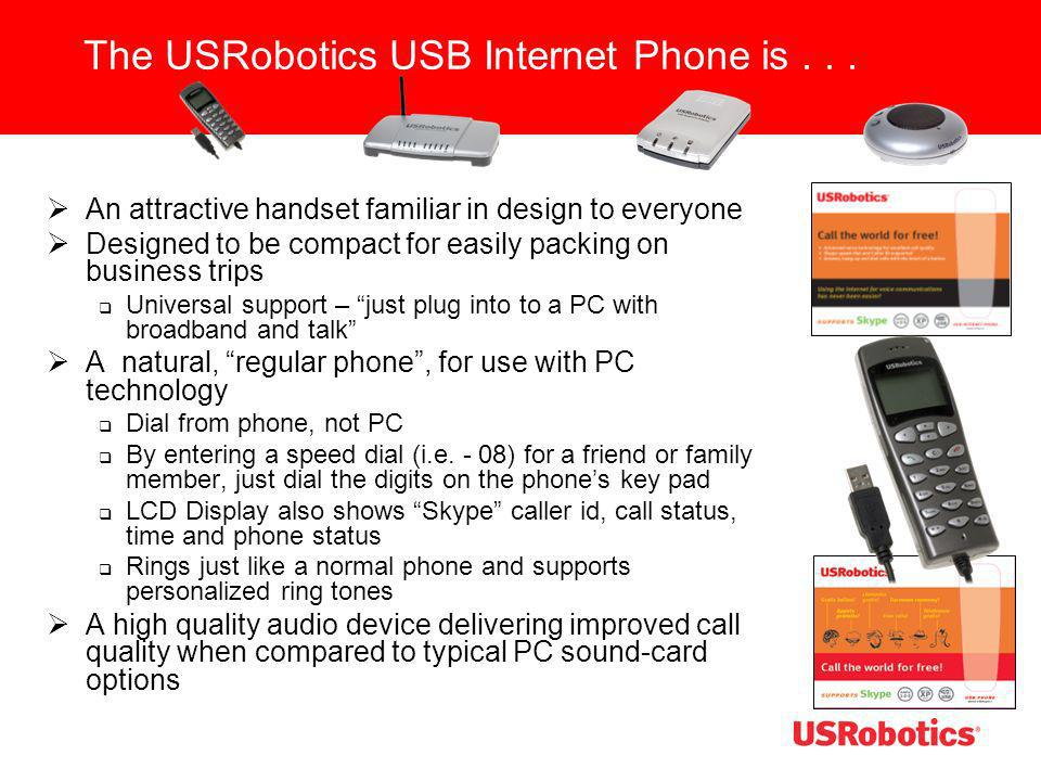 The USRobotics USB Internet Phone is . . .