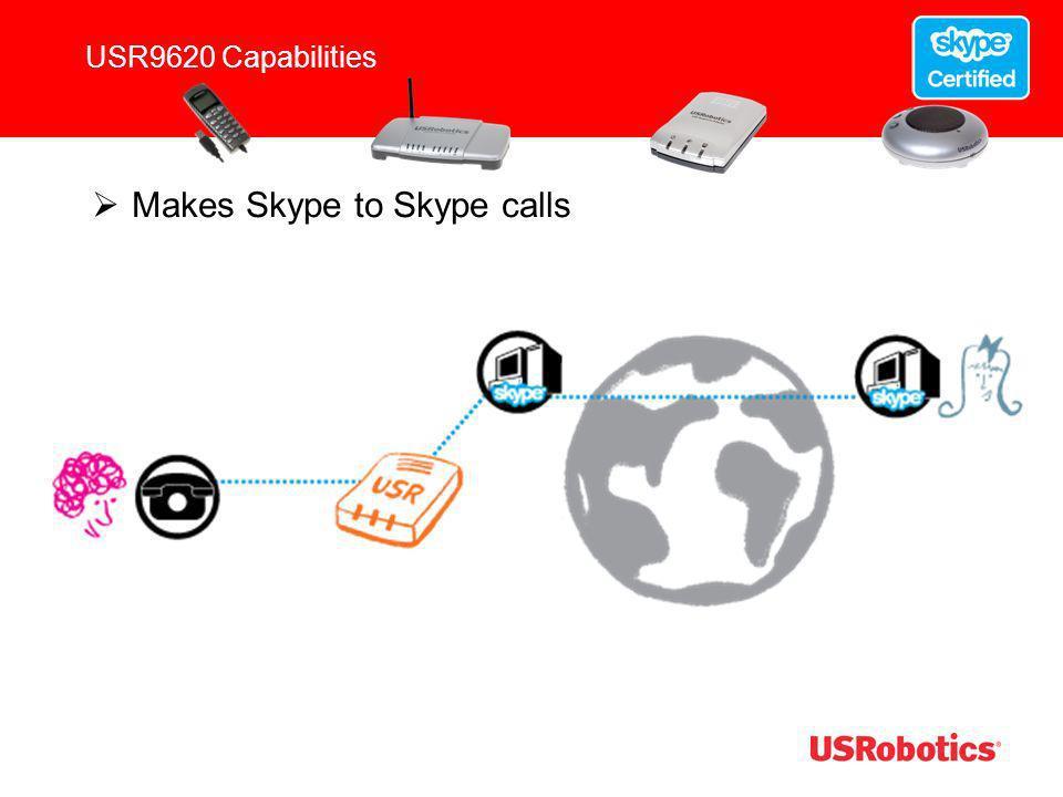 Makes Skype to Skype calls