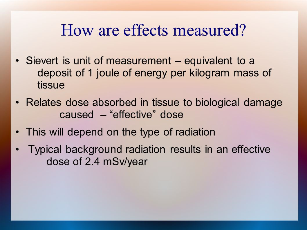 How are effects measured