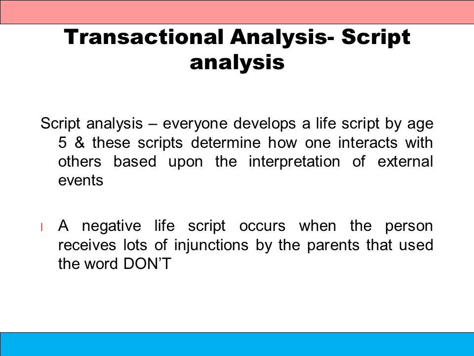 transactional anlysis