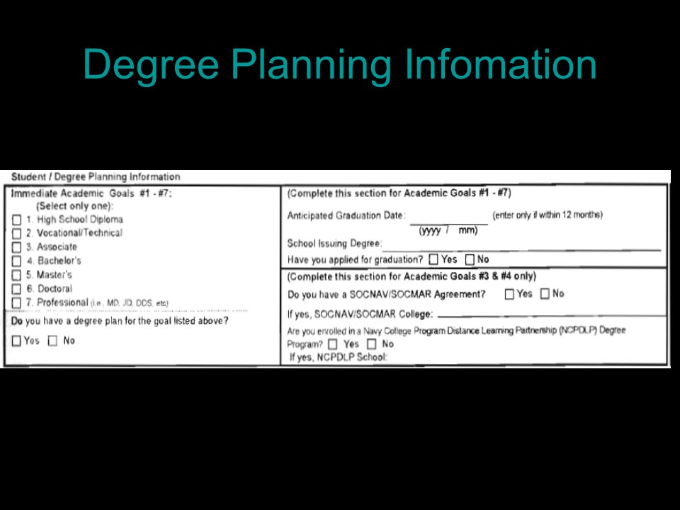 Degree Planning Infomation