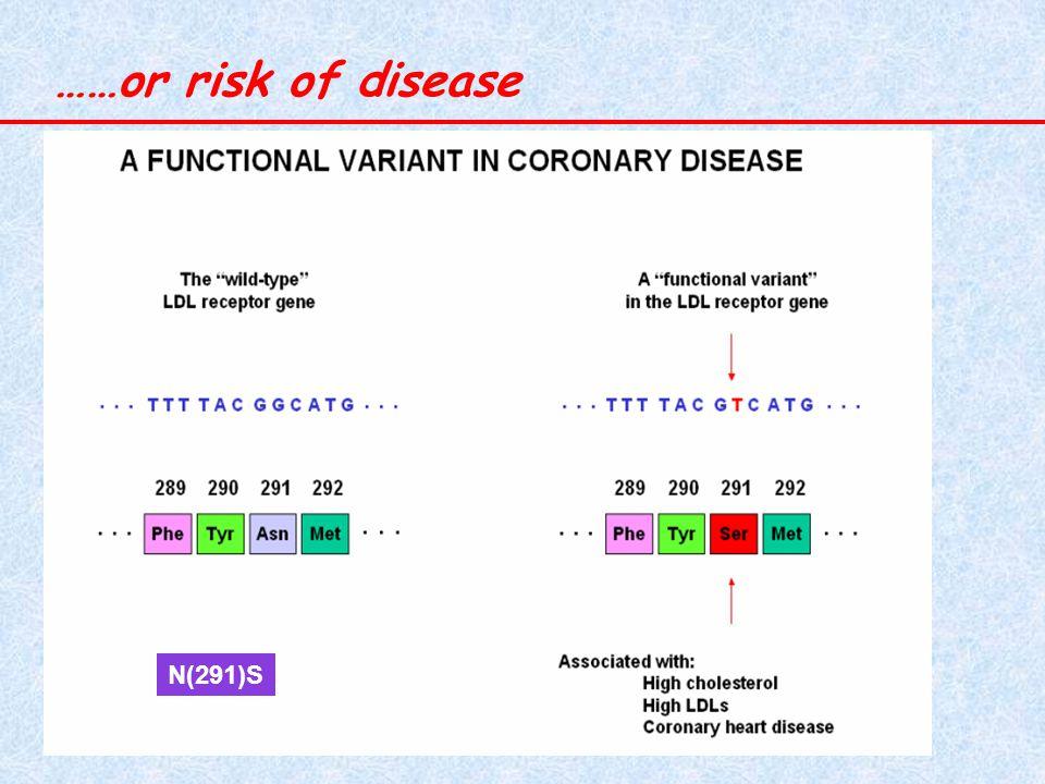……or risk of disease N(291)S