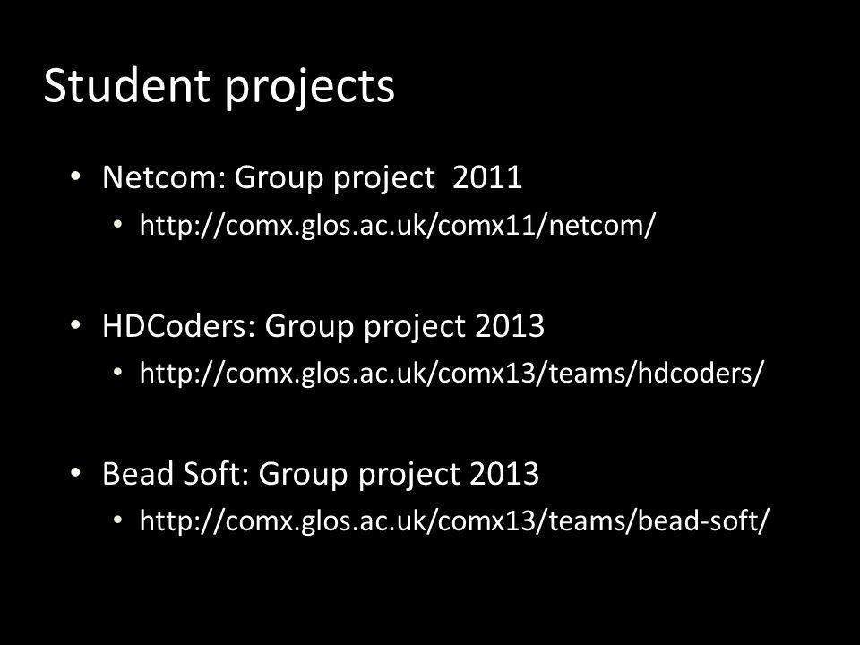 Student projects Netcom: Group project 2011