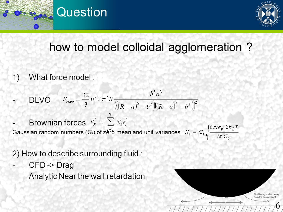 how to model colloidal agglomeration
