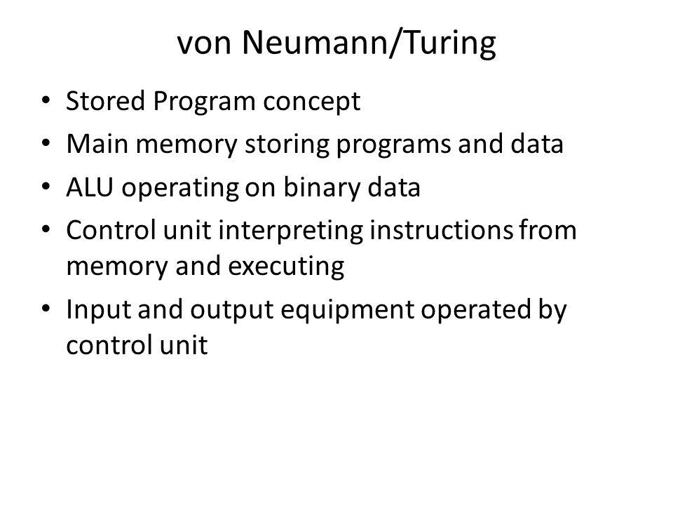 von Neumann/Turing Stored Program concept