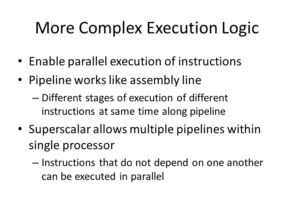 More Complex Execution Logic