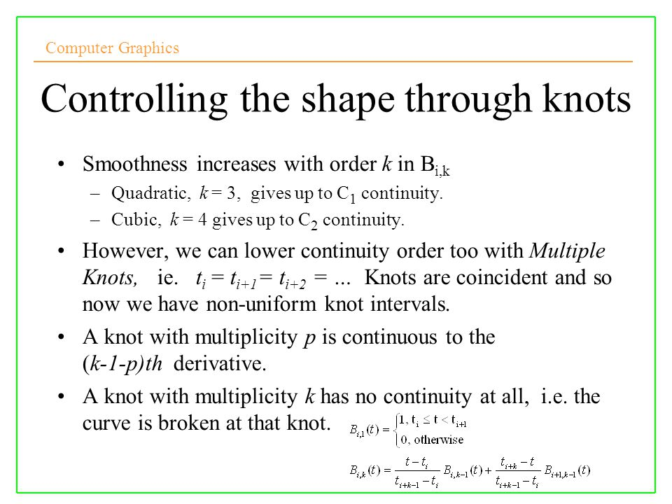 Controlling the shape through knots