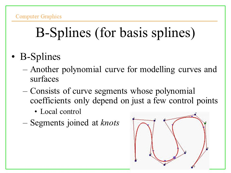 B-Splines (for basis splines)