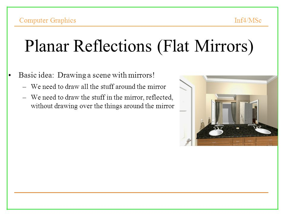 Planar Reflections (Flat Mirrors)‏