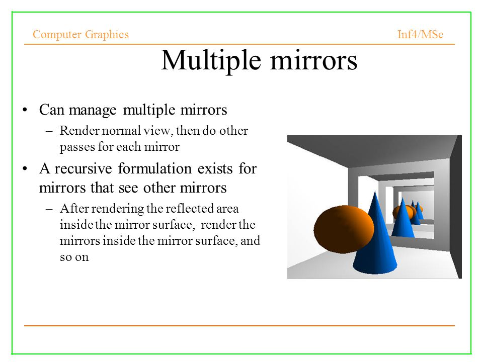 Multiple mirrors Can manage multiple mirrors