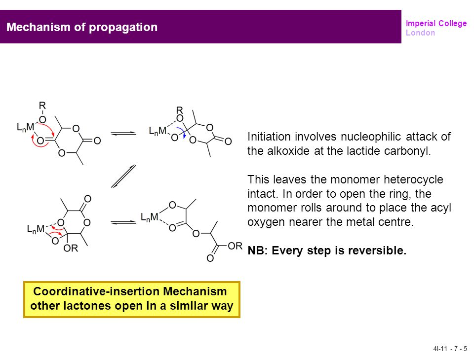 Coordinative-insertion Mechanism other lactones open in a similar way
