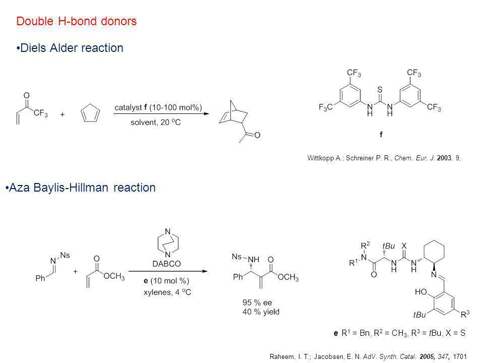 Aza Baylis-Hillman reaction