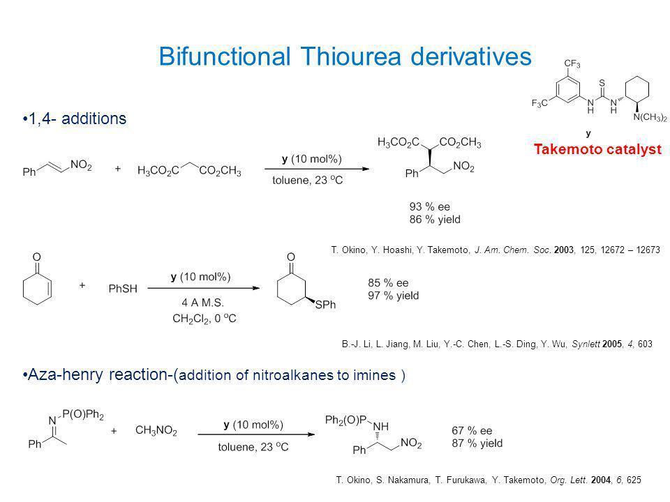 Bifunctional Thiourea derivatives