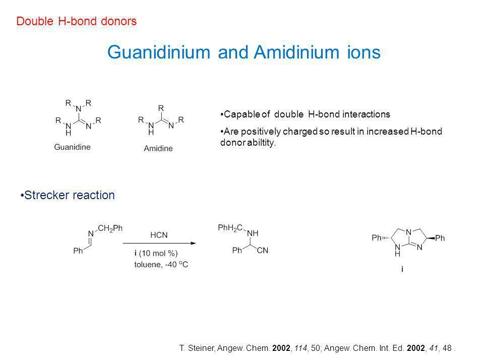 Guanidinium and Amidinium ions
