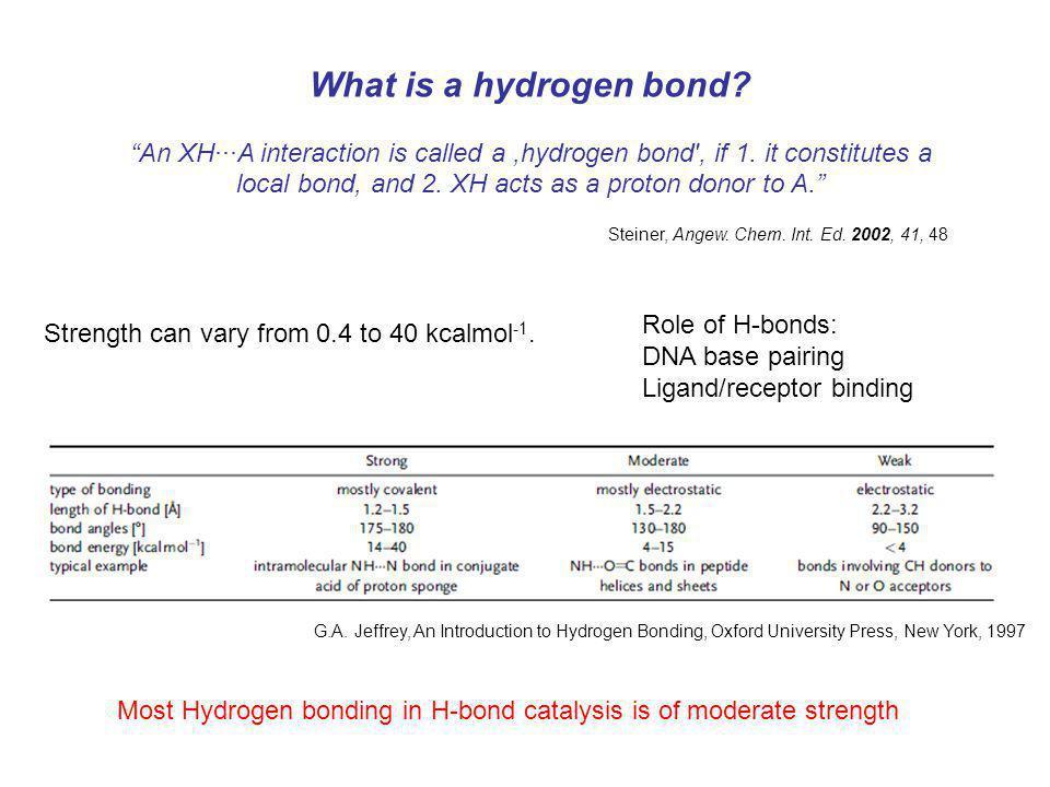 What is a hydrogen bond