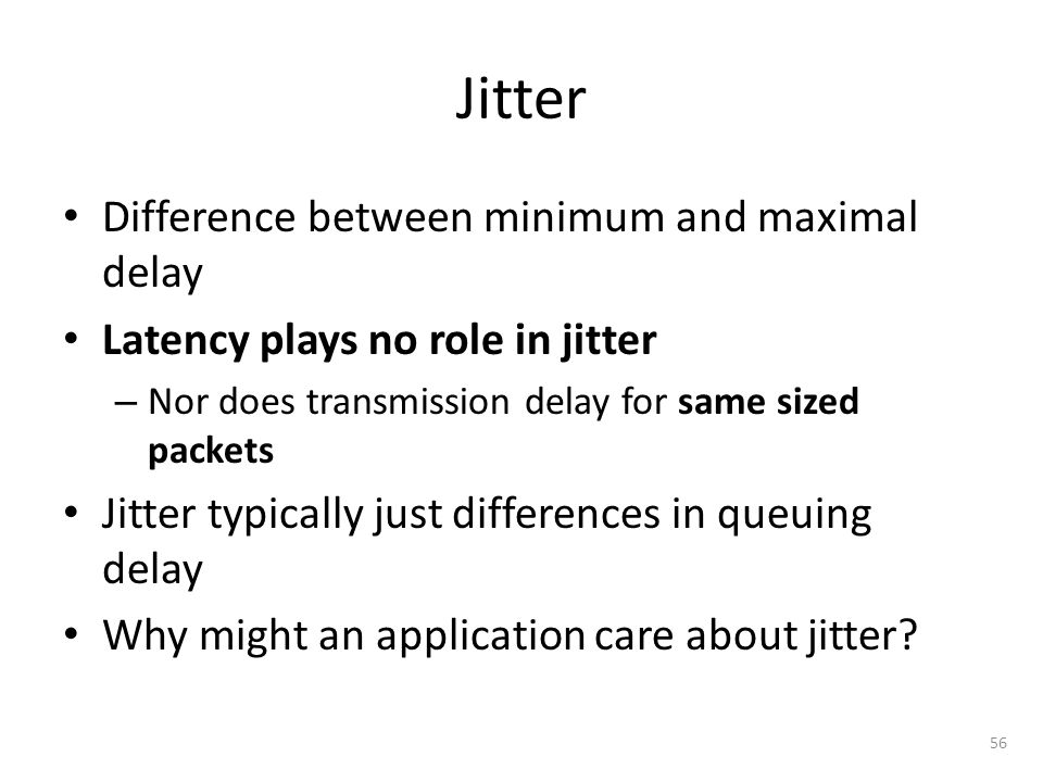 Jitter Difference between minimum and maximal delay