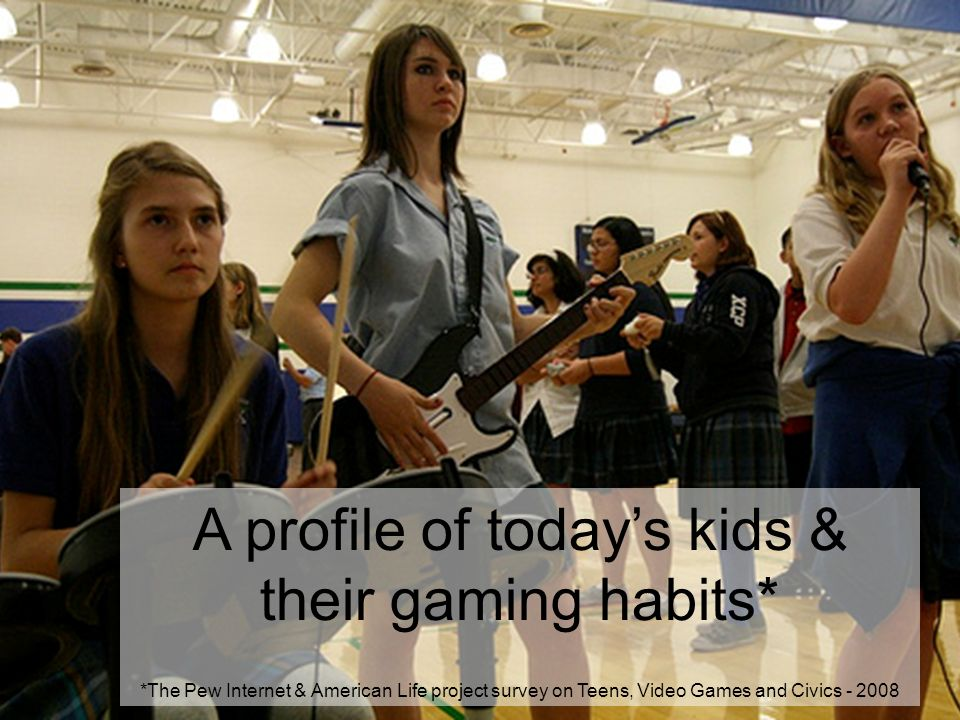 A profile of today's kids & their gaming habits*