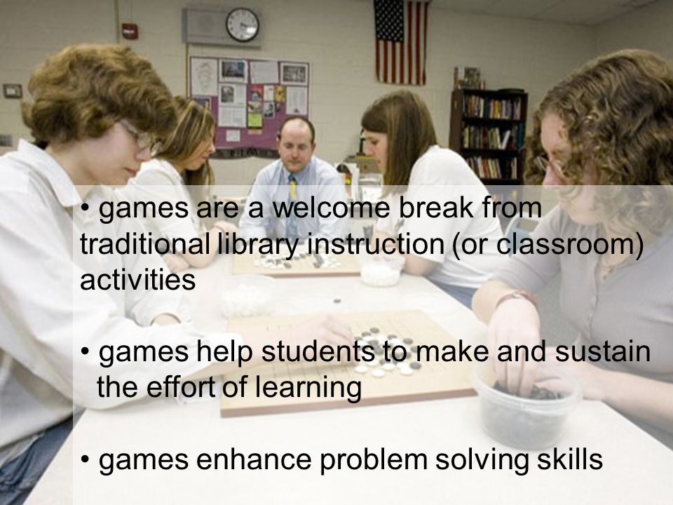 games help students to make and sustain the effort of learning