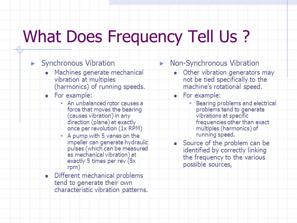 What Does Frequency Tell Us