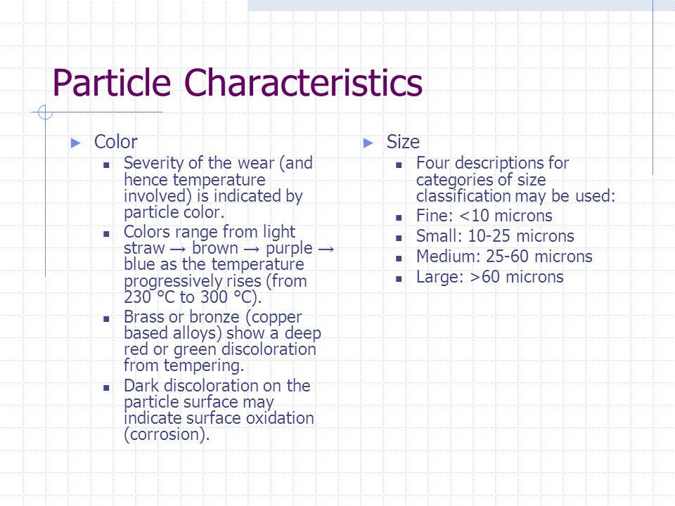 Particle Characteristics