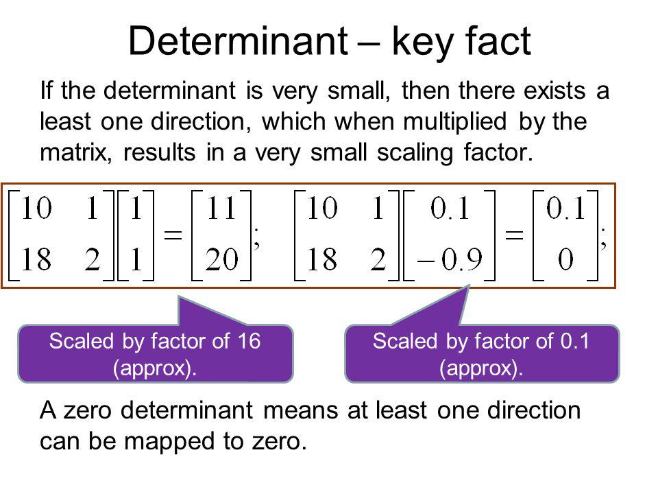Determinant – key fact