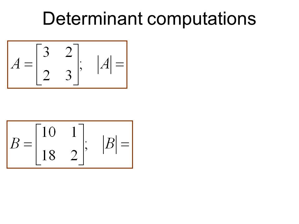 Determinant computations