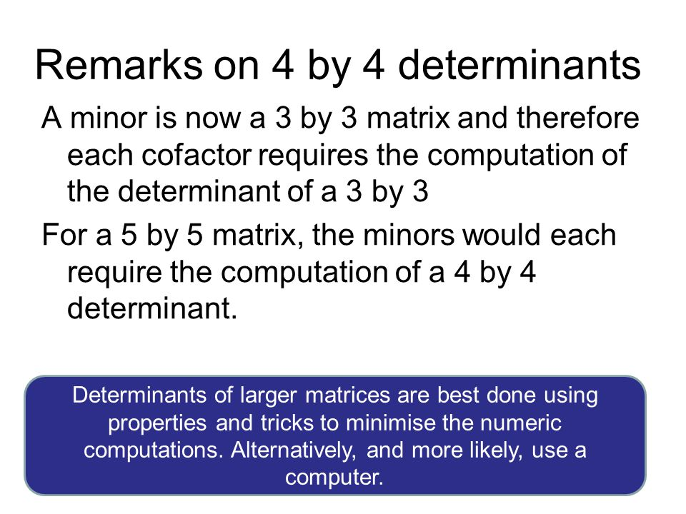 Remarks on 4 by 4 determinants