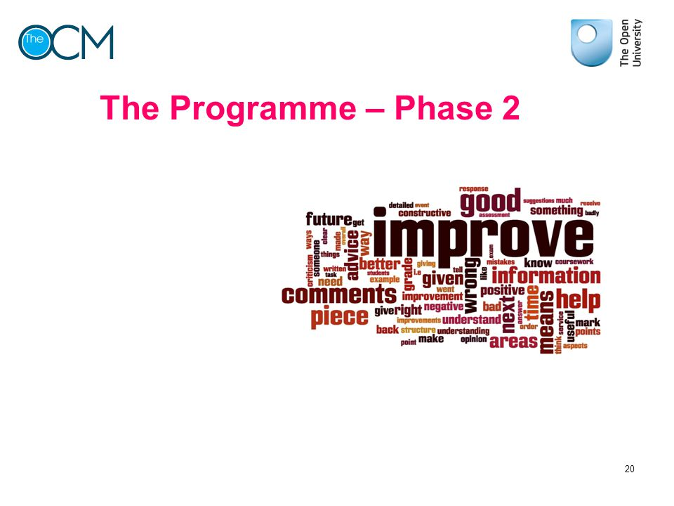 The Programme – Phase 2