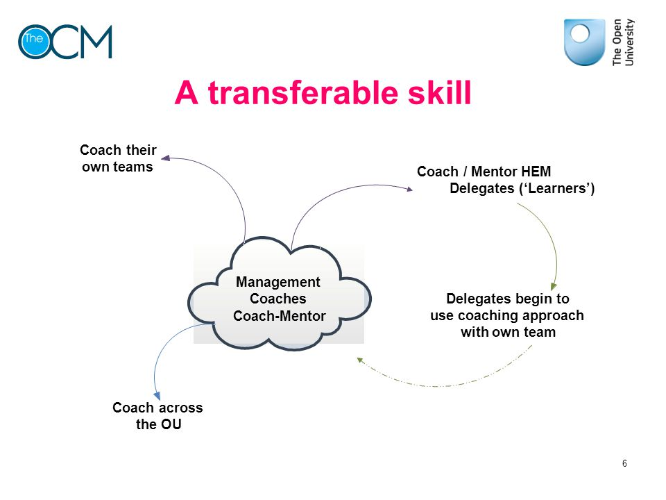 A transferable skill Management Coaches Coach-Mentor