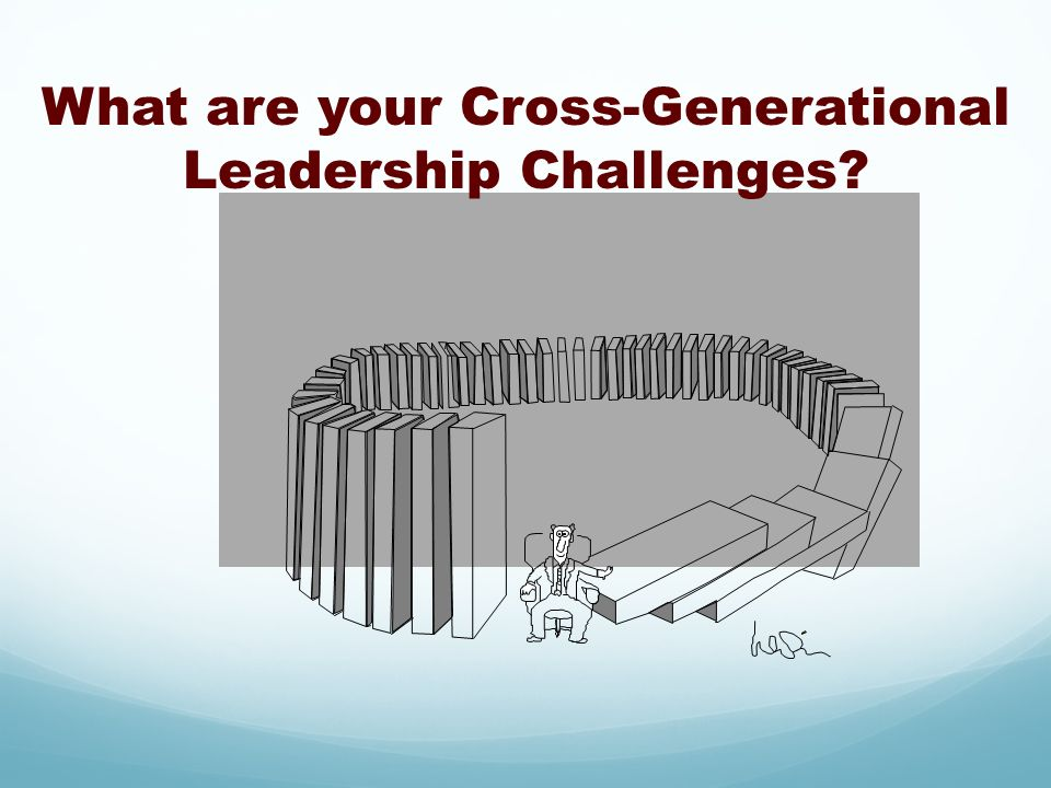 What are your Cross-Generational Leadership Challenges