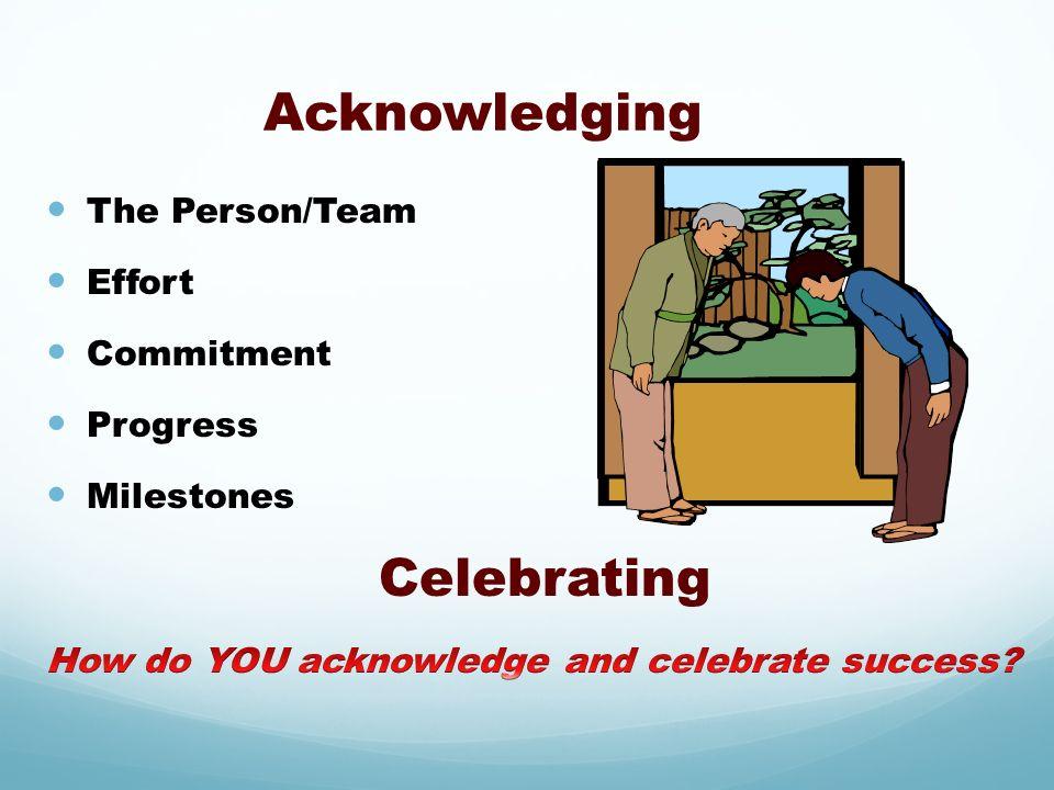 Acknowledging Celebrating
