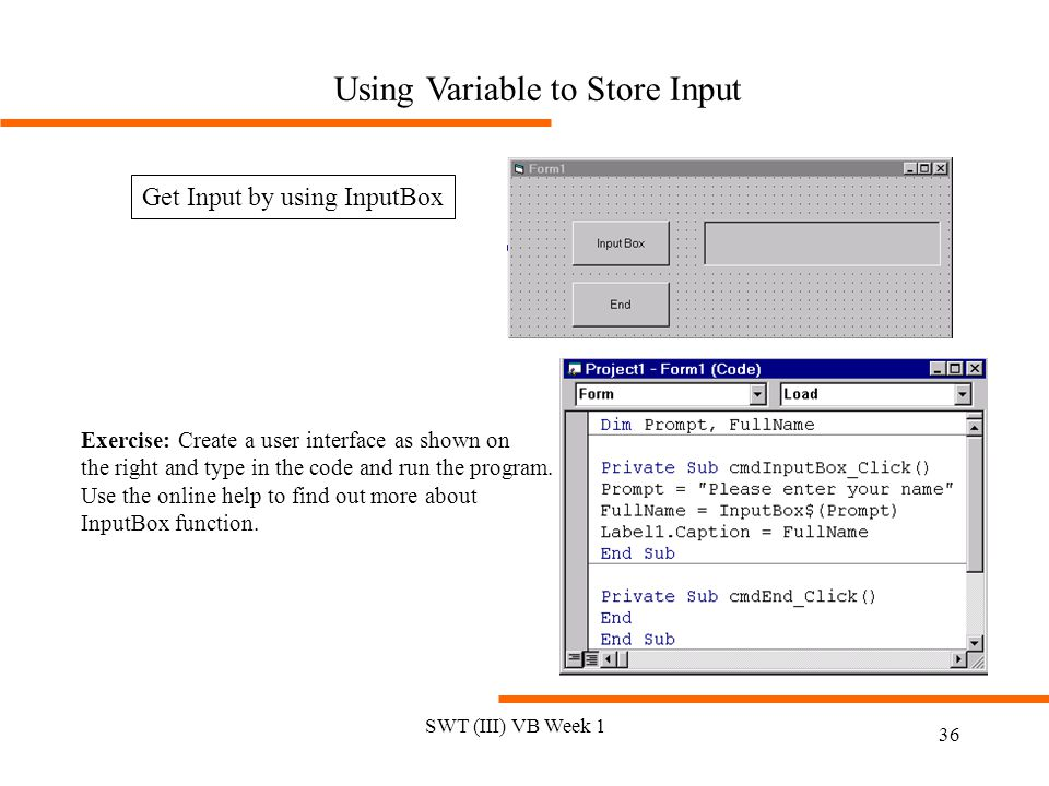 Using Variable to Store Input
