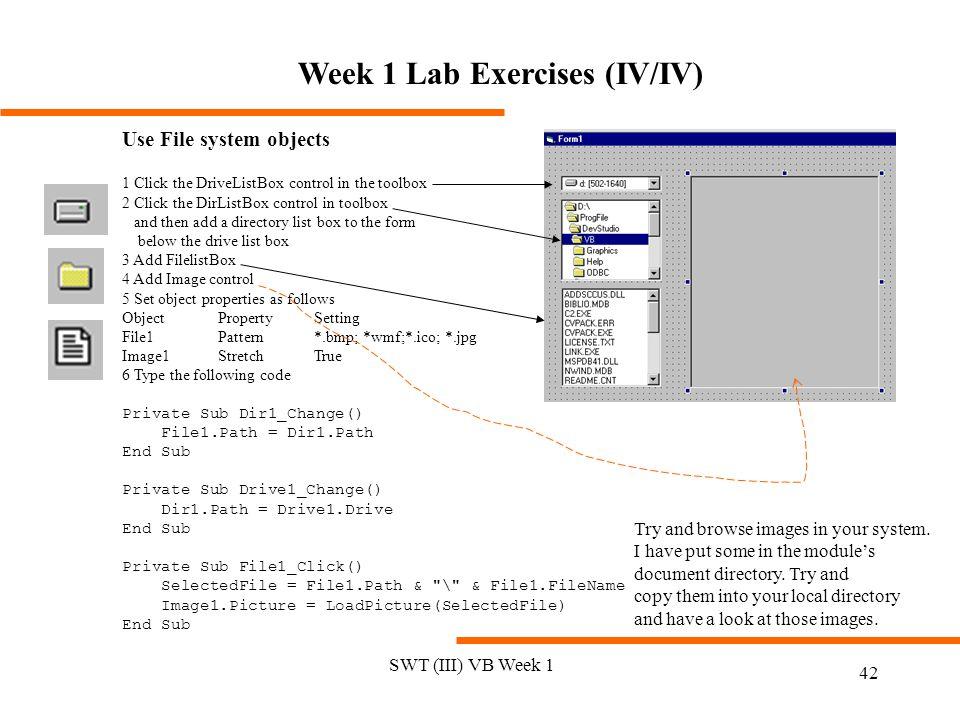 Week 1 Lab Exercises (IV/IV)