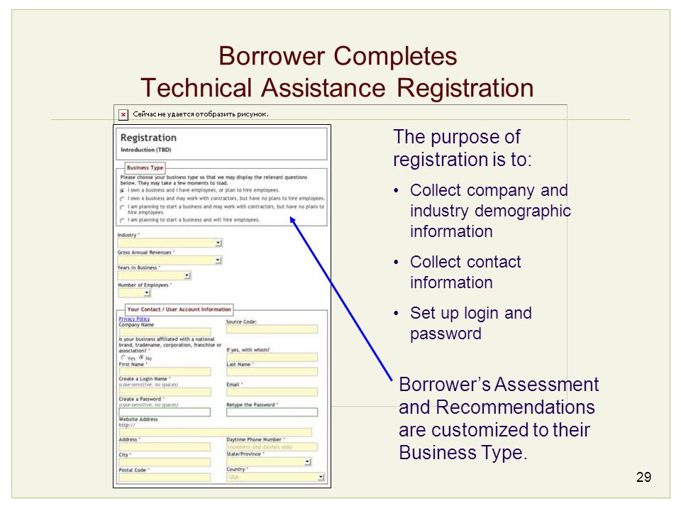Borrower Completes Technical Assistance Registration