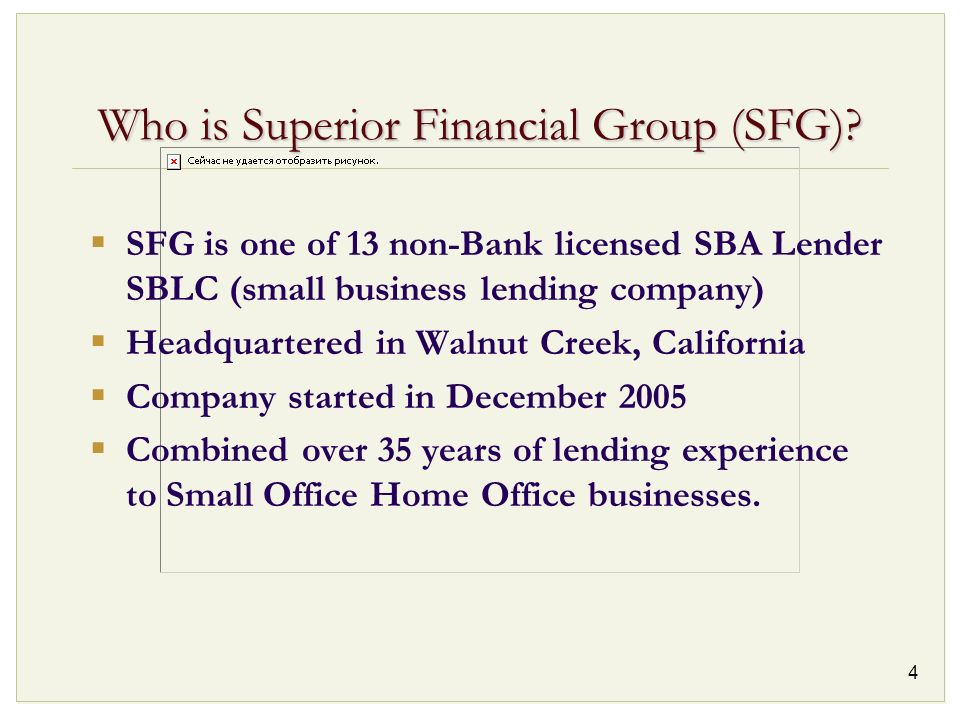 Who is Superior Financial Group (SFG)