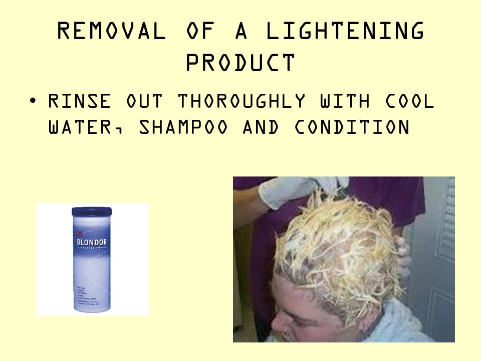 REMOVAL OF A LIGHTENING PRODUCT