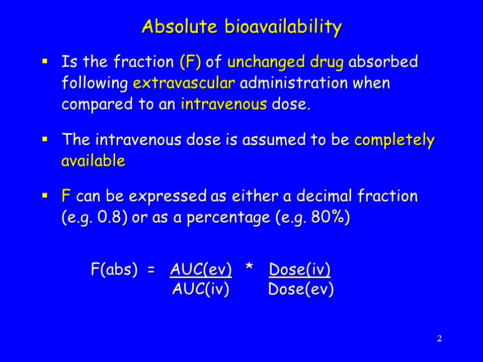 Absolute bioavailability
