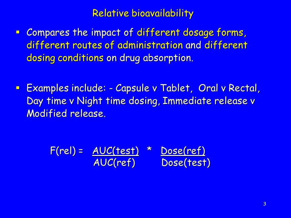 Relative bioavailability